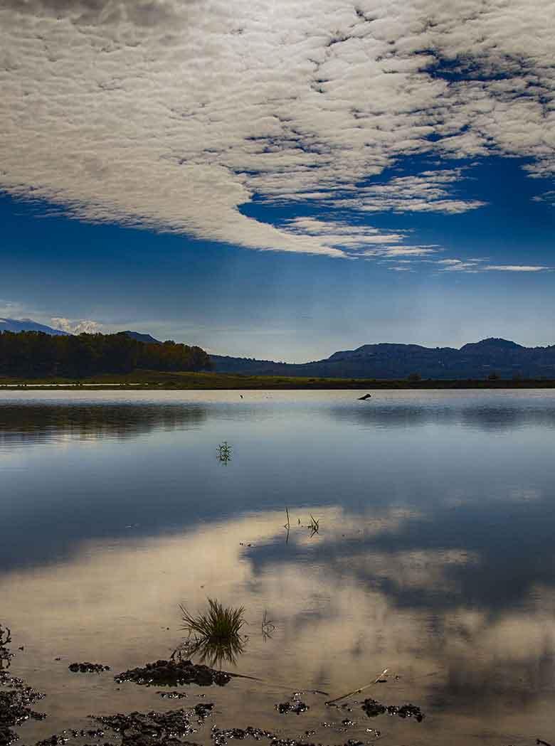 Il lago pozzillo vista dalla riva